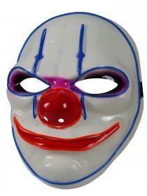 Halloween Leuchtmaske Gesichtsmaske Clown Killermaske leuchtende blinkende Horror Partymaske