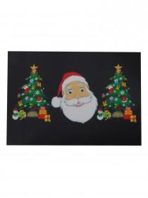 """LED T-Shirt  """"Weihnachten mit Santa Claus""""  leuchtender blinkender Weihnachtsmann Weihnachts-Party Frau"""