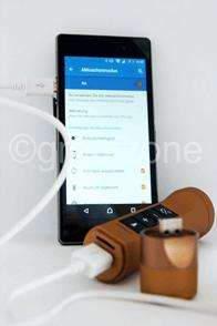 Stereoanlage für das Fahrrad mit Powerbank, Taschenlampe und Bluetooth Freisprechfunktion