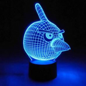 Originelle 3D LED-Lampe Angry Birds Multicolor Wohnlicht Farbwechsel Nachtlicht Tischleuchte Tischlampe
