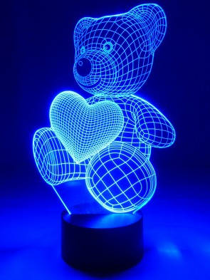 originelle 3D LED-Lampe niedlicher Teddybär