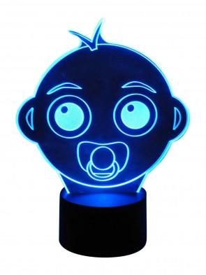 originelle 3D Lampe Baby Face