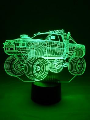 originelle 3D LED-Lampe Monster-Truck Tischleuchte Kinderzimmer Wohnzimmer