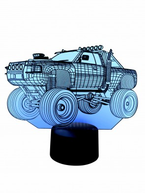3D Led Lampe Monster-Truck
