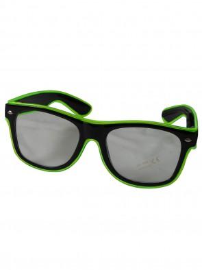 LED-Brille Leuchtbrille Partybrille Spassbrille Transparenten Klare Gläser Karneval Fasching