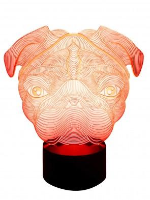 3D Effekt Lampe Hund