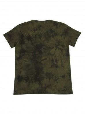 T-Shirt mit hochwertigem 3D Druck; Motiv: Camouflage Panzer-Tank