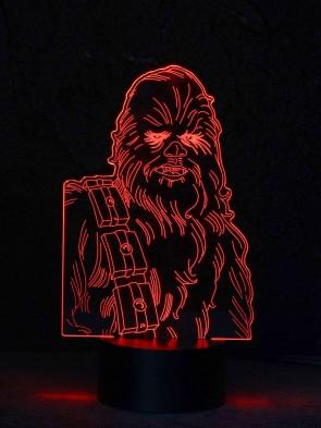 originelle 3D LED-Lampe Chewbacca Tischlampe Nachtlicht Nachttischlampe Wohnlicht Tischleuchte Farbwechsel Show-Effekt