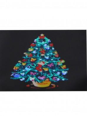 "LED T-Shirt ""Family Christmas""  Partyshirt Funshirt Weihnachtsshirt blinkendem leuchtendem Weihnachtsbaum"
