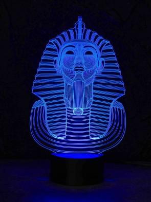 originelle 3D LED-Lampe Cleopatra Farbwechsel Tischlampe Wohnlicht Nachttischlampe Tischleuchte Motivlampe