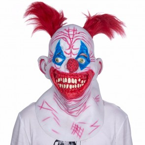 Latex Maske crazy Clown