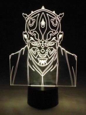 originelle 3D LED-Lampe Nachttischlampe Tischlampe Tischleuchte Wohnlicht Wohnzimmer Motivlampe Teufel