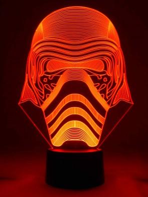 originelle 3D LED-Lampe Nachttischlampe Tischlampe Tischleuchte Wohnlicht  Wohnzimmer Motivleuchte Maske