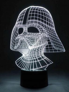 Originelle 3D LED-Lampe Farbwechsel Tischlampe Nachttischlampe Tischleuchte Wohnlicht Wohnzimmer Motivlampe Maske