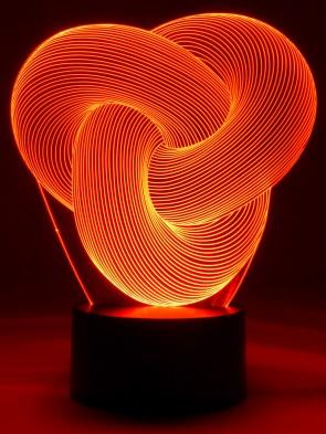 originelle 3D LED-Lampe Magischer Ring verzaubert und entspannt im Wohnzimmer