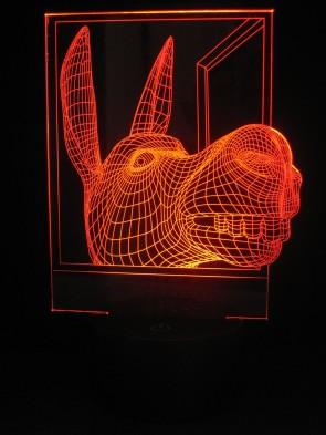 originelle 3D LED-Lampe lustiger Esel Multicolor Farbwechsellicht Kinderzimmerlampe