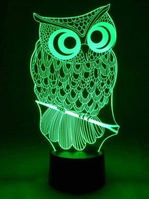 originelle 3D LED Lampe Eule Designerlampe als Wohnlicht Tischlampe Nachtlicht