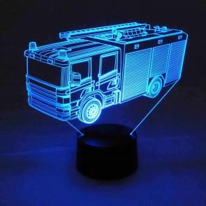 3D LED-Lampe Feuerwehr Kinderzimmer Farbwechselleuchte Wohnlicht Tischlampe Tischleuchte Nachttischlampe