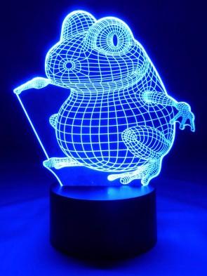 originelle 3D LED-Lampe niedlicher Frosch als Tischlampe für das Kinderzimmer