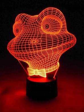 originelle 3D LED-Lampe Kinderzimmer Tischlampe Kinderzimmerlampe Wohnlicht Nachttischlampe Farbwechsel Motivlampe lustiger Frosch
