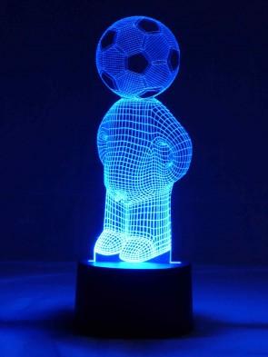 originelle 3D LED-Lampe Tischlampe Kinderlampen Kinderleuchte Kinderzimmerlampe Wohnlicht Motivlampe Fußball