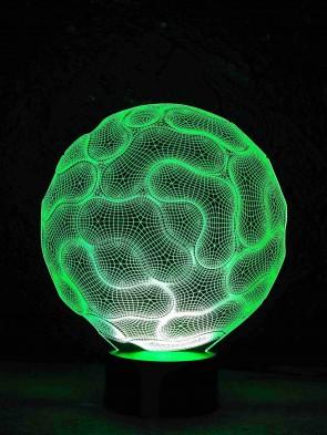 originelle 3D LED-Lampe Nacht-Tischlampe Halloween Schädel Farbwechsel Motivlampe Gehirn