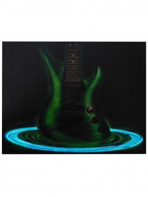 LED T-Shirt Flowing Guitar