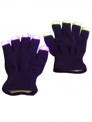 LED Handschuh Lila