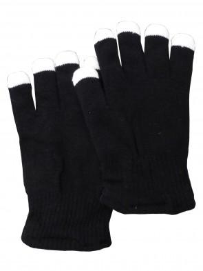 Handschuhe, schwarz, blinkend