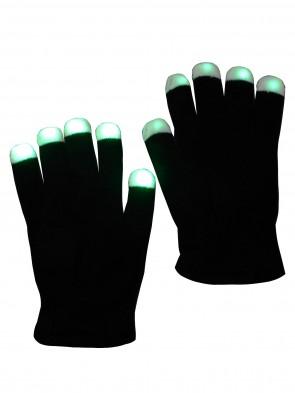 in verschiedenen Farben leuchtende schwarze LED Handschuhe, blinkende Handschuhe, Fingerhandschuhe, leuchtende Handschuhe, Party Handschuhe