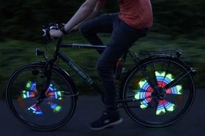 Speichenlicht für das Fahrrad