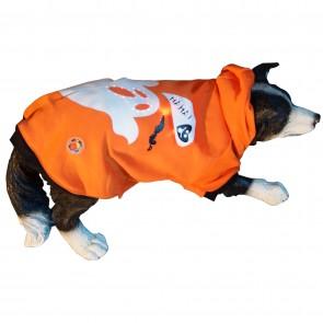 LED Hundebekleidung Hundepullover Orange für große und kleine Hunde mit Leucht-Motiv Geist in S, M, L, XL