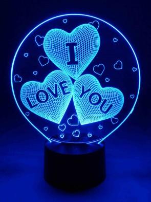originelle 3D LED-Lampe Tischlampe Tischleuchte Nachttischlampe Wohnlicht Motivlampe Herz