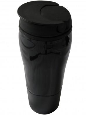 Mehrweg-Kaffeebecher der nicht umkippt mit Schraubdeckel, Kaffeebecher-to-go ,Kaffeebecher mit Schnellverschluss, Trink-Becher,Thermo heiß und kalt, Travel Mug,Autobecher, doppelwandig, isolierende Außenseite, Wiederverwendbarer-Getränke-Becher