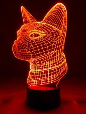 originelle 3D-LED-Lampe Katze Mehrfarben-Licht Tischlampe Nachtlampe Tischleuchte Wohnlicht