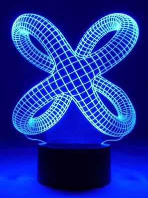 originelle 3D LED Designerlampe  Krake Wohnlicht Tischlampe Tischleuchte Mehrfarben-Licht