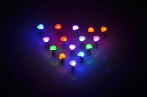 leuchtende LED Ohrstecker Herz