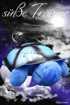 Schlummerlampe Schildkröte Blau für das Kinderzimmer