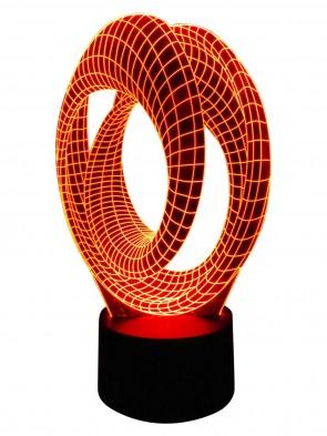 3D Designer Kunst-Lampe
