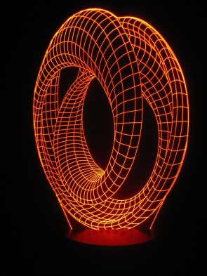 originelle 3D LED-Lampe Designerlampe Stimmungslicht Wohnlicht Motivlampe Looping