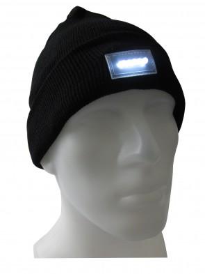 LED-Mütze , Leuchtmütze in Schwarz