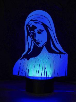 originelle 3D LED-Lampe Farbwechsel-Licht Wohnlicht Nachttischlampe Tischleuchte Motivlampe Maria