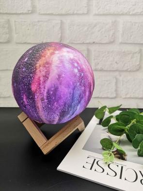 originelle 3D Mond Lampe 16 Farben Dekoleuchte wiederaufladbares Stimmungslicht Nachtlicht Tischlampe Sternenhimmel