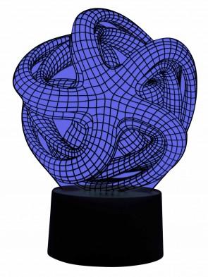 3D Designer Kunst Lampe