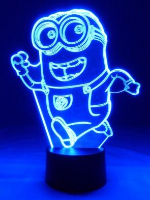 originelle 3D LED-Lampe Minion