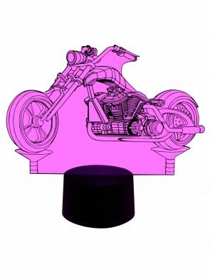 Originelle 3D LED Lampe Chopper