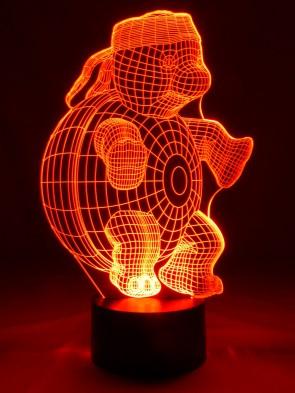 originelle 3D LED-Lampe Franklin, niedliche Schildkröte im Kinderzimmer
