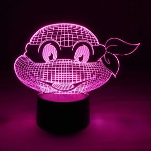 Originelle 3D LED-Lampe Mehrfarben Wohnlicht Nacht-Tischlampe Wohnlicht Tischleuchte Kinderzimmer Motivlampe Schildkröte