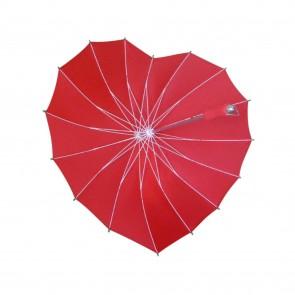 Regenschirm Rot für Verliebte als Herzform für Hochzeit, Valentinstag, Romantik