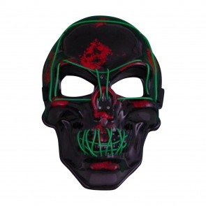leuchtende Halloween LED-Maske Totenkopf-Schädel Leuchtmaske Partymaske Karneval